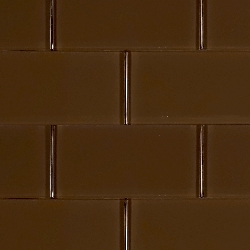 Glass Solid Soft Brown | 3x6 inch | Glass | Wall | Code: OPUS58036